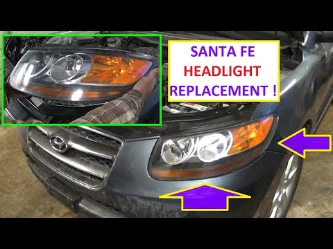 Headlight Removal and Replacement on Hyundai Santa Fe 2006 2007 2008 2009 2010 2011 2012