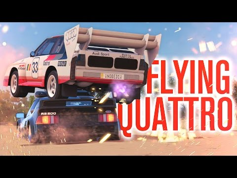 WE JUMPED HIM!!! FLYING AUDI QUATTRO, FREE FAST TRAVEL?   Forza Horizon 3 Let