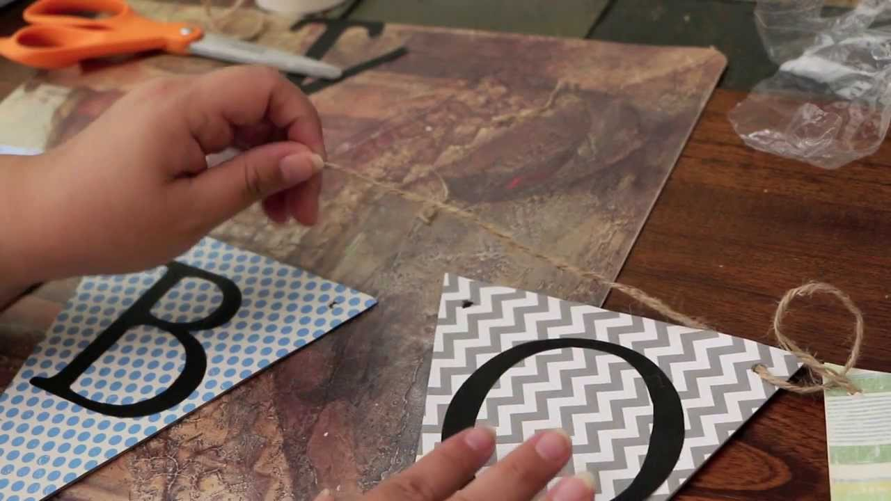 DIY- baby shower or party banner - YouTube