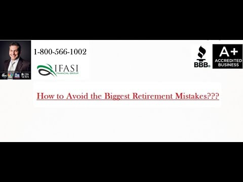 Retirement Mistakes - How to Avoid Retirement Mistakes