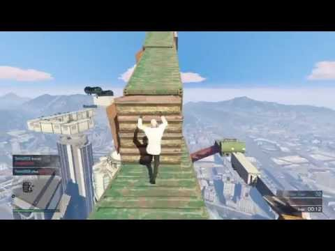 Grand Theft Auto V Team Deathmatch AWESOME PARKOUR