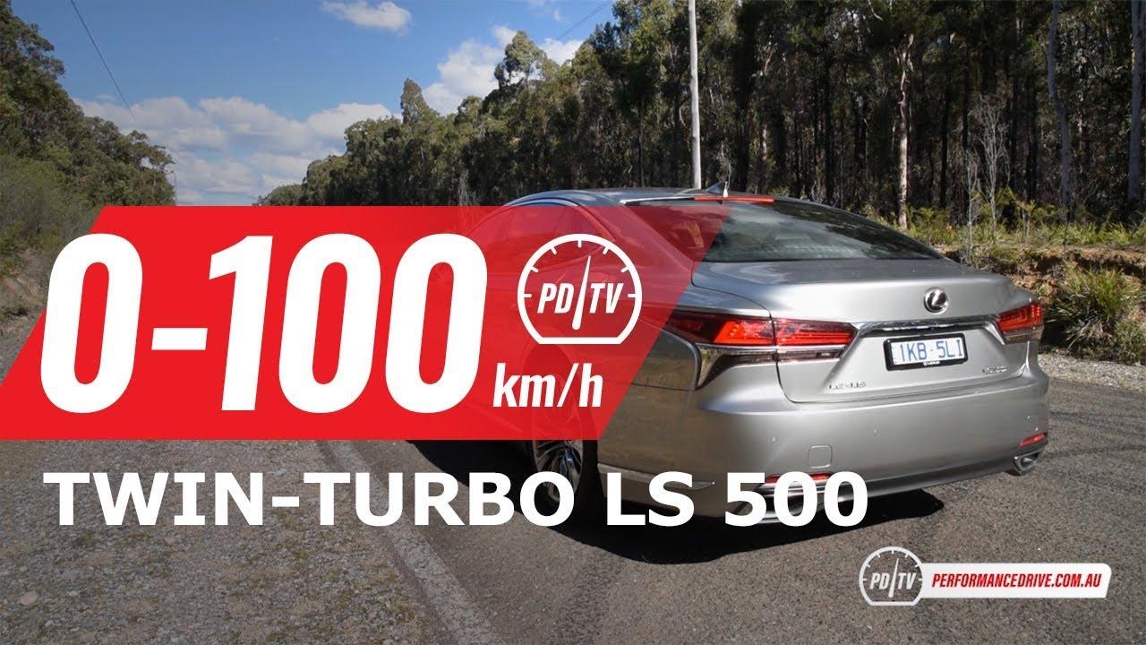 2018 lexus ls 500 twin turbo v6 0 100km h engine sound youtube rh youtube com