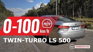 2018 Lexus LS 500 (twin-turbo V6) 0-100km/h & engine sound