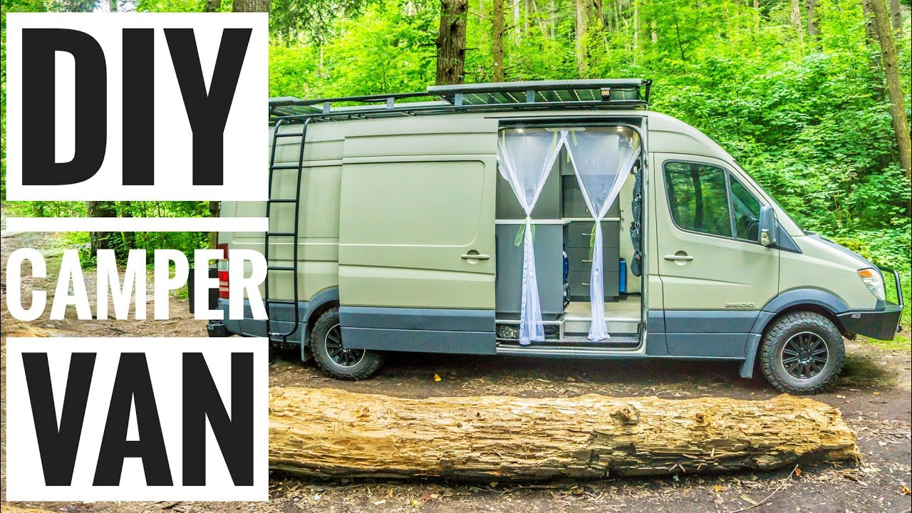 21c660c383 Introducing Our Custom DIY Sprinter Campervan!  Vanlife - YouTube