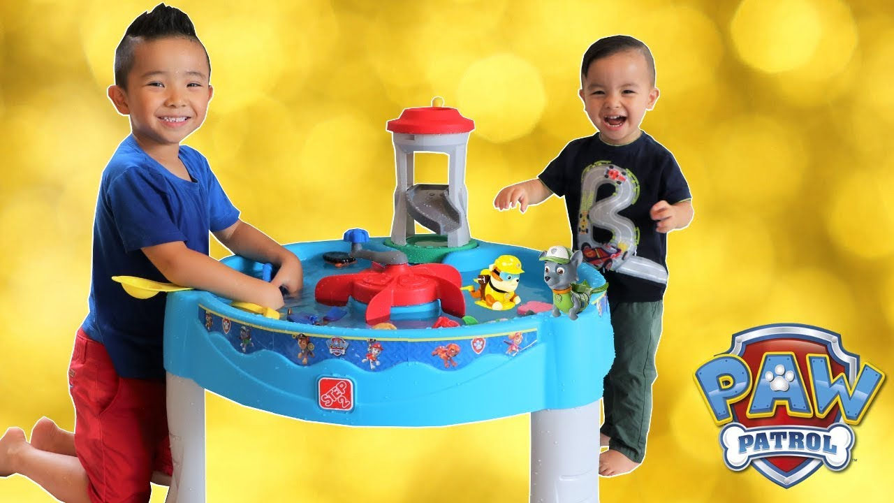 Paw Patrol WATER TABLE Unboxing Fun With Ckn Toys - YouTube