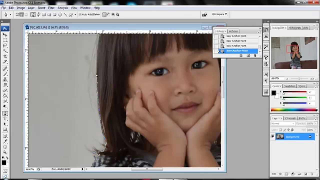 Cara Memotong Gambar Dengan Pen Tool Dengan Photoshop Youtube