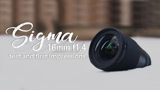 Sigma 16mm f1.4 - Best WIDE angle for VIDEO?