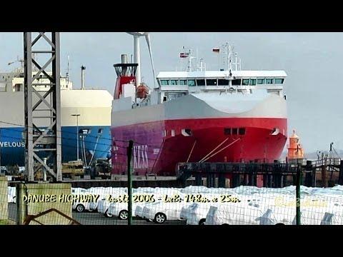 DANUBE HIGHWAY C6VH4 IMO 9316309 Emden Germany car carrier Autotransporter