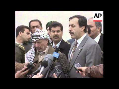 GAZA: YASSER ARAFAT CRITICISES US UN RESOLUTION