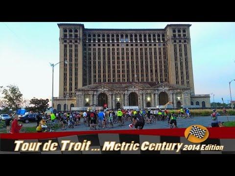 Tour de Troit Ride METRIC CENTURY (2014 Edition). Selected scenes. Detroit is not only for Downtown