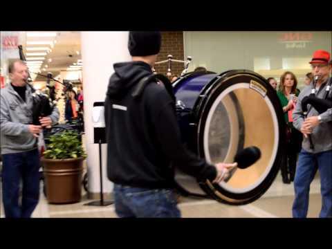 RCPB Bagpipe Christmas Flash Mob 2014