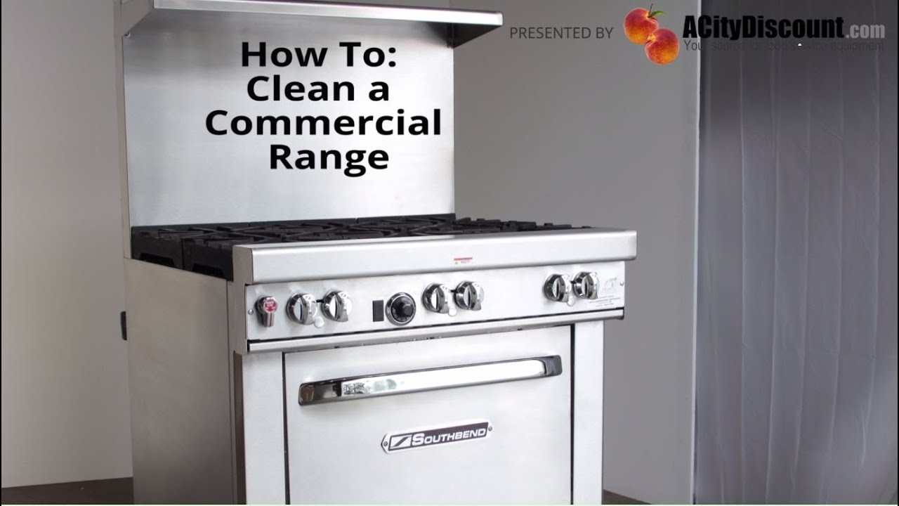 How to Clean a Commercial Range - YouTube