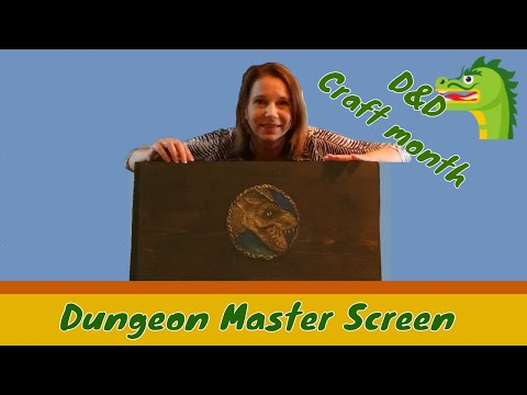 D&D themed craft - How to make a Dungeon Master Screen - Dragon Crest