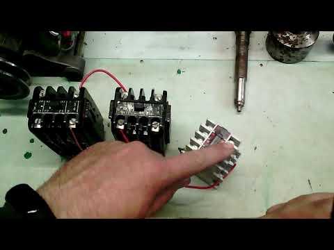 Простая Схема подключение реле времени на токарном станке. Часть1
