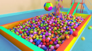 Binkie TV - Ball Pit Playground slide - Funny Balls - For Kids