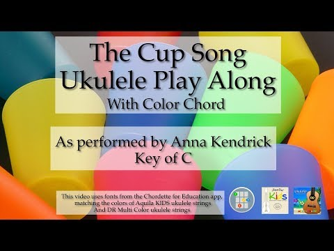 Cup Song Ukulele Play Along (Color Chord)