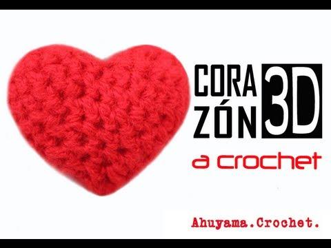 Tutorial Corazón Ganchillo | Crochet Técnica Amigurumi - YouTube | 360x480