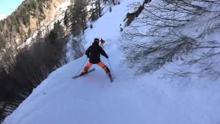 verbier的mountain tour路線 即使是連絡道都充滿了挑戰