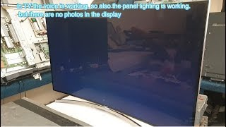 SAMSUNG UE48H8080SQ TV SAMSUNG  Curved no picture on screen sound works lighting panel works