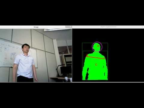 Head Shoulder detection using depth camera with my own algorithm
