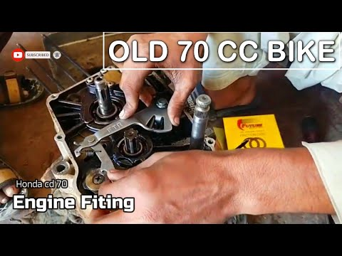 How to fit 70cc bike engine Complete | old rusty engine