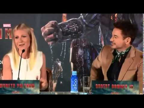 ROBERT  DOWNEY JR. CUTE  MIX OF ALL  THE PRESS CONFERENCE