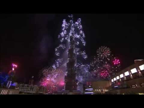 Dubai Fireworks 2014 (Burj Khalifa, Burj Al Arab, World Islands, Palm Jumeirah) 1080p HD