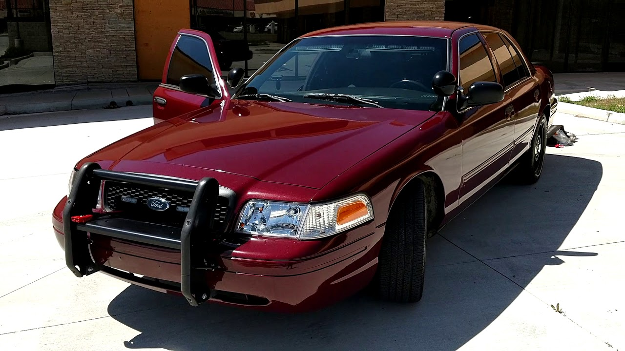crown victoria police ford interceptor miles