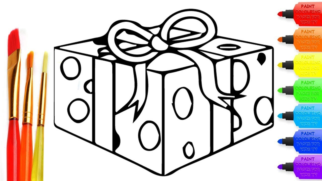 Present Coloring Pages | 720x1280