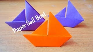 Paper Boat - How To Make Paper Sail Boat - Origami