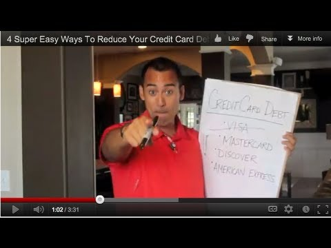Super Easy Ways To Reduce Your Credit Card Debt