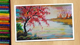Easy Way To Draw a lake Drawing for Beginners Step By Step Drawing Tutorials YouTube