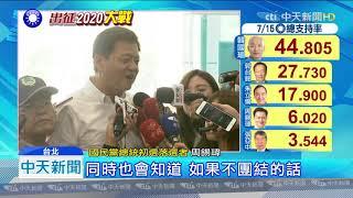 20190715中天新聞 韓國瑜確定選總統! 柯文哲下一步稱「再想想」