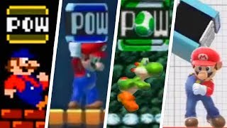 Evolution of POW Blocks in Super Mario Games (1983 - 2019)