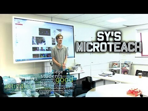 Sy's MicroTeach - Level 3 award in Education and Training