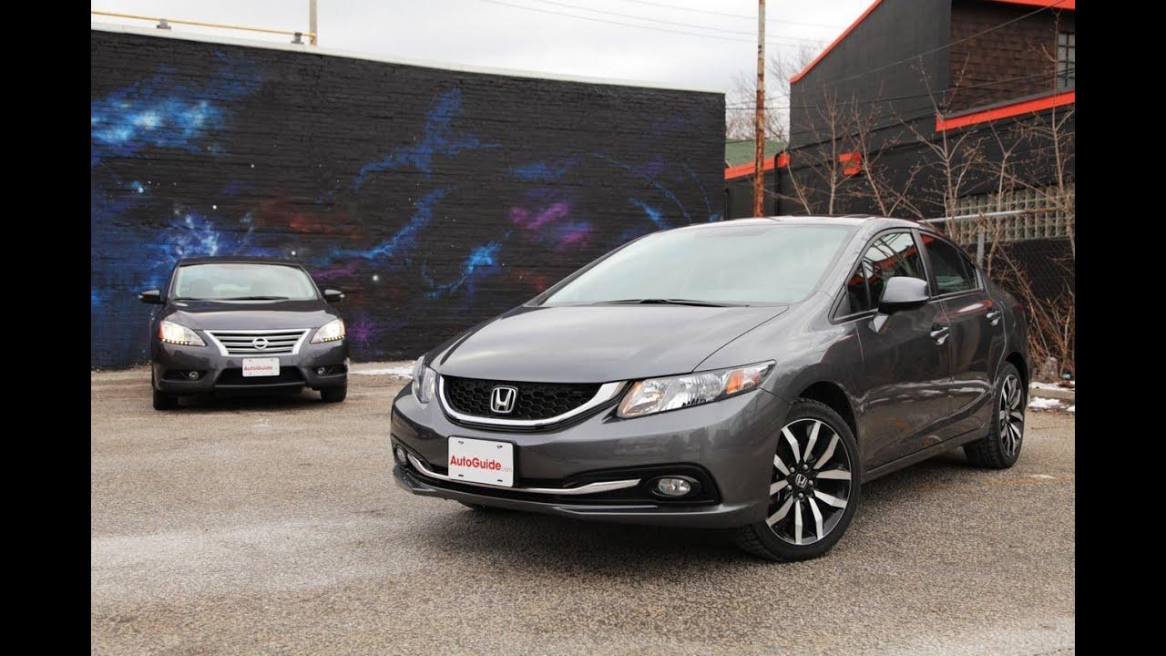2013 Honda Civic vs 2013 Nissan Sentra Comparison  YouTube