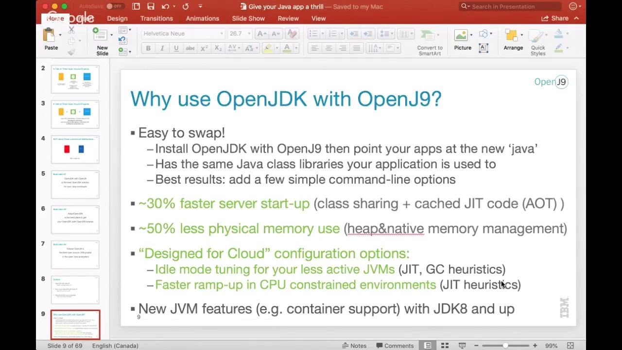 OpenJDK with Eclipse OpenJ9: give your Java applications a thrill !