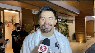 Manny Pacquiao begins training for title fight with Errol Spence Jr