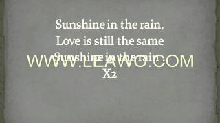 BwO-Sunshine in the rain with Lyrics on screen