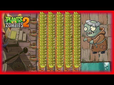 Plants vs Zombies 2 Hack - Fire Peashooter VS 99999 Zoombies