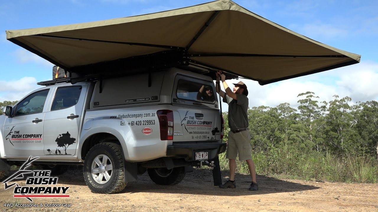 4Wd Awning Tent 270 degree gull wing awning review - the bush company - 4wd accessories