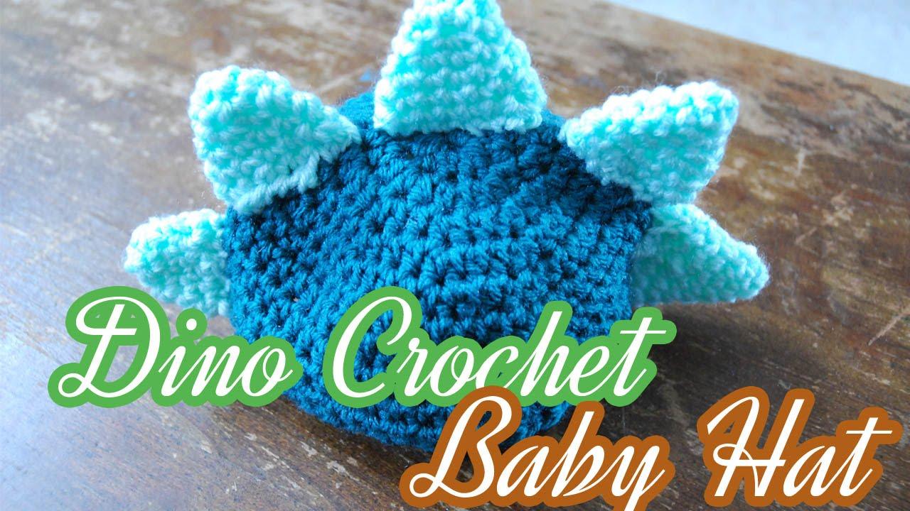 Crochet Dino Wedge Hat - YouTube