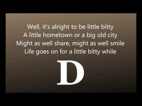 Little Bity - Alan Jackson,  chord play along video, with lyrics