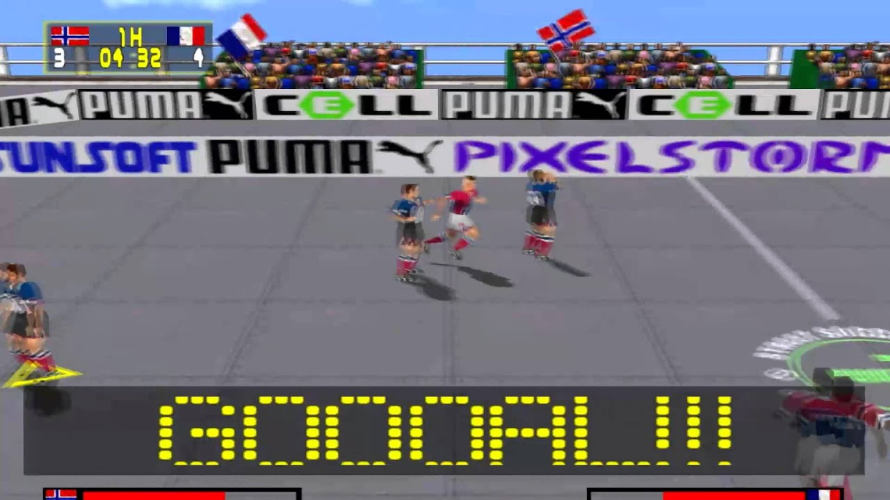 puma street soccer ps1 noruega x frança youtube