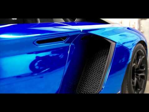 Blue Chrome Aventador LP700-4