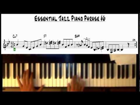 Jazz Piano Lick Exercises 6 10 Easy 2 5 1 Phrases Youtube