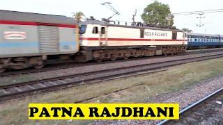 Annoyed WAP7 Patna Rajdhani Overtakes Lichchavi