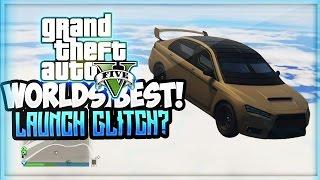 WORLDS BIGGEST GTA 5 CAR LAUNCH GLITCH! & Tutorial (GTA 5 Online Funny Moments)