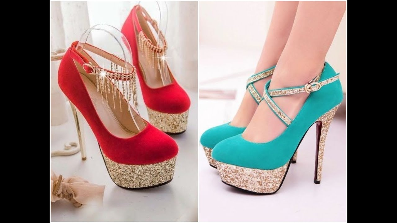 451ea120abfe3d beautiful pencil heels shoes stylish 2017 new designs - YouTube