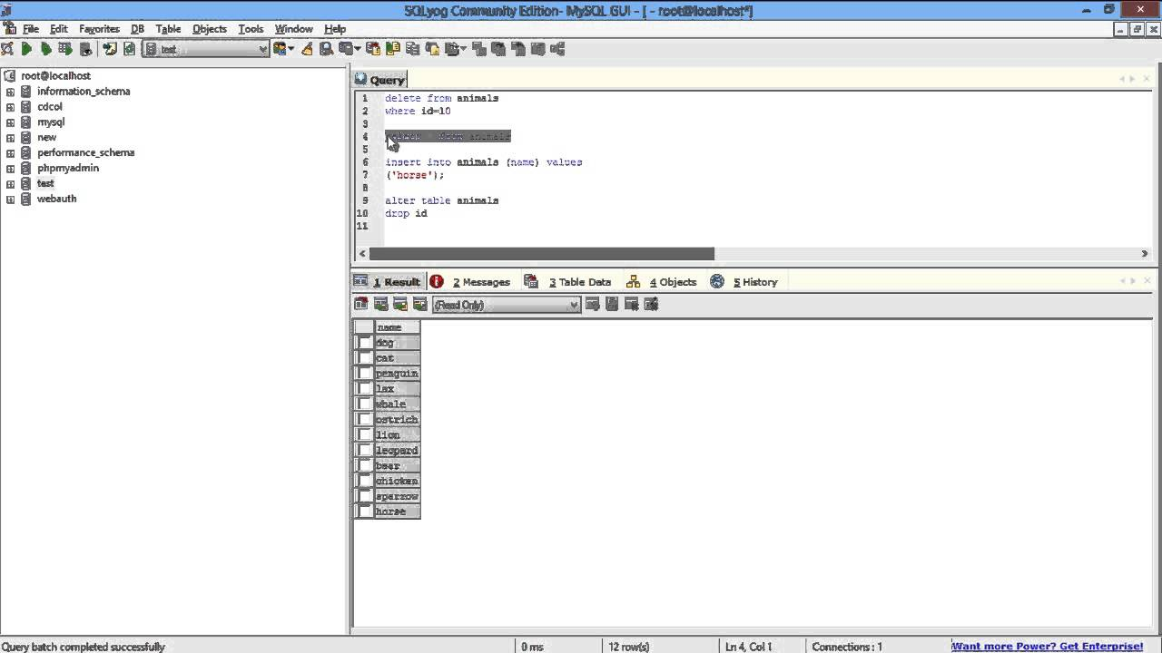 Mysql create table example primary key autoincrement cabinets matttroy - Sql create table auto increment ...